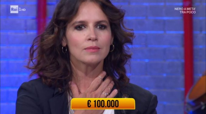 Irene Ferri en plein ai Soliti Ignoti: vince 100.000 euro