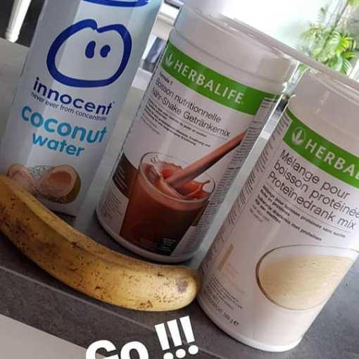 Shake formula 1 à l eau de coco