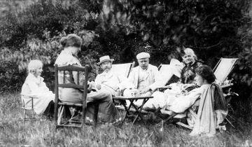 Vibeke, Henny Brodersen, Krøyer, Valdemar og Minna Triepcke og Marie Krøyer
