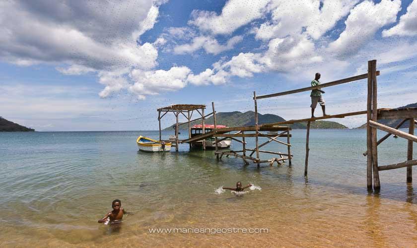 Centre de plongée sur le lac Malawi © Marie-Ange Ostré
