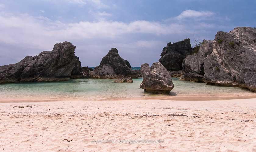 îles des Bermudes, plage de sable rose à Horsehoe Bay © Marie-Ange Ostré