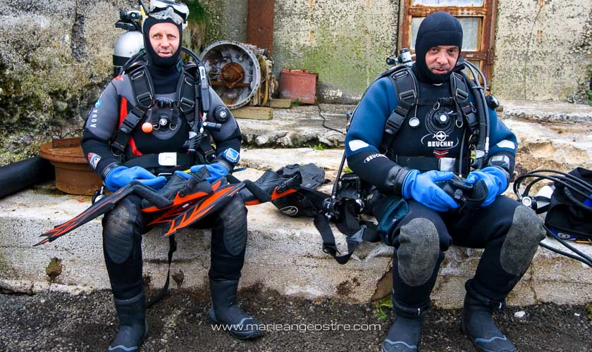 Islande, René Heuzey et Aldo Ferrucci, plongeurs © Marie-Ange Ostré