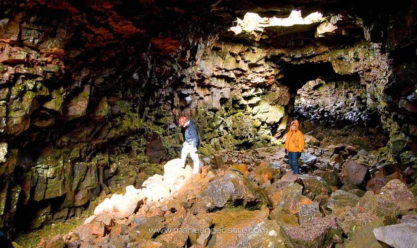 Islande, grotte et tunnel de lave Raufaholtshellir © Marie-Ange Ostré