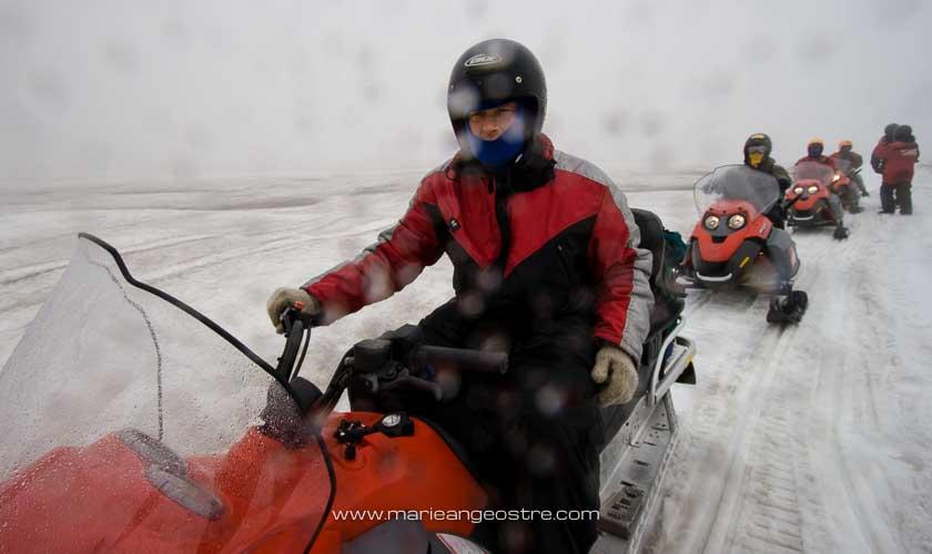 Islande, moto-neige sur le glacier Myrdalsjökull © Marie-Ange Ostré