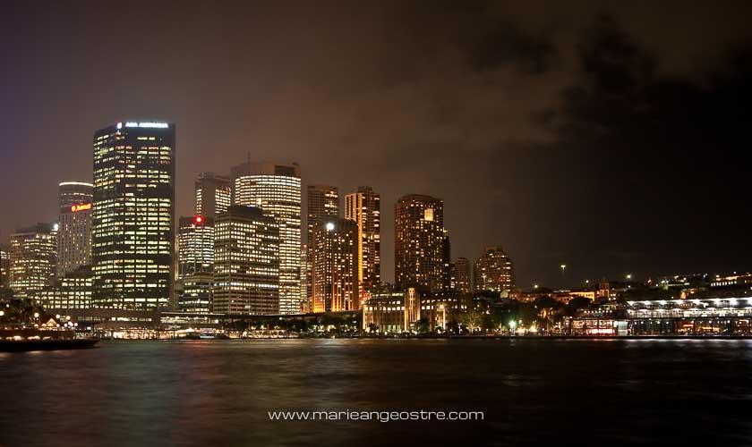 Australie, Sydney de nuit sur Circular Quay © Marie-Ange Ostré