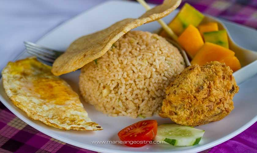 Cuisine indonésienne, nasi goreng © Marie-Ange Ostré