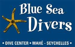Seychelles, logo du centre Blue Sea Divers