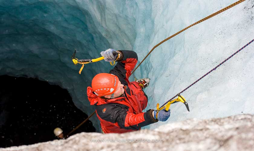 Islande, puits de glace Myrdalsjökull © Marie-Ange Ostré