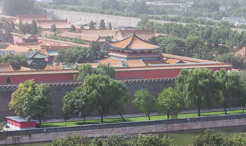 Chine, au-dessus de la Cité Interdite, Pékin © Marie-Ange Ostré