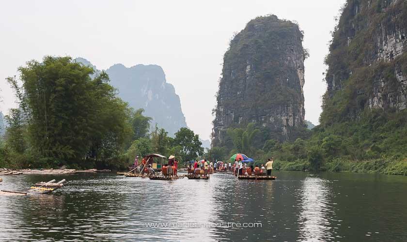 Chine, descente sur la Yulong River, province Guangxi © Marie-Ange Ostré