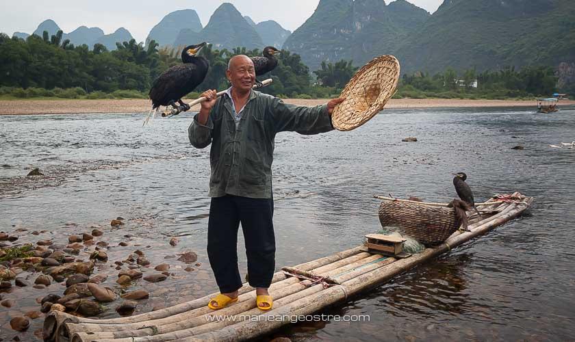 Chine, pêche aux cormorans sur la Li River, province du Guangxi © Marie-Ange Ostré