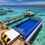 Maldives, hôtel Angsana Velavaru, villa sur pilotis avec piscine © Marie-Ange Ostré