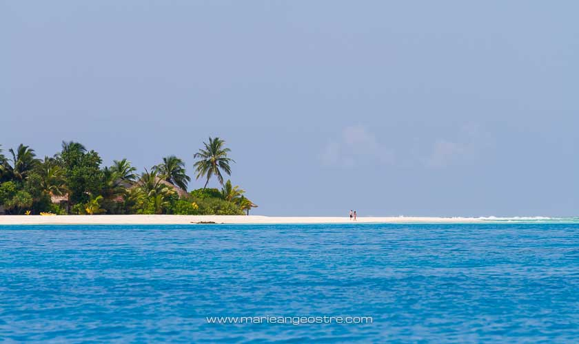 Maldives, hôtel Angsana Velavaru, plage et lagon © Marie-Ange Ostré