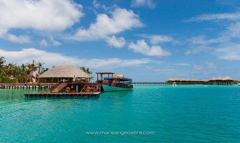 Maldives, hôtel Halaveli Resort, embarcadère © Marie-Ange Ostré