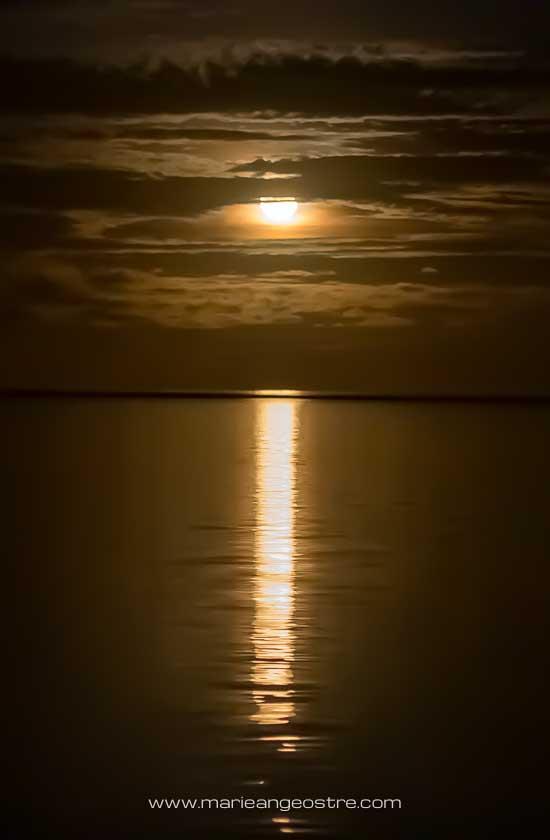Maldives, lever de lune sur Gili Lankanfushi © Marie-Ange Ostre