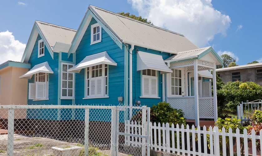 île de la Barbade, maison traditionnelle du passé © Marie-Ange Ostré
