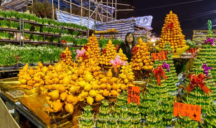 Hong Kong, foire du nouvel an chinois à Victoria Park © Marie-Ange Ostré