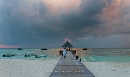 Maldives, hôtel Coco Palm Dhuni Kolhu, débarcadère © Marie-Ange Ostré