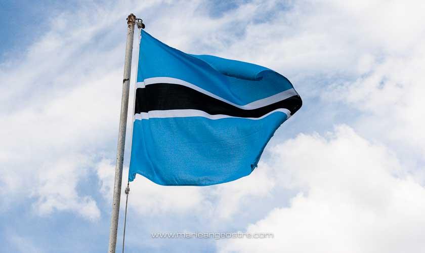 Botswana, drapeau © Marie-Ange Ostré