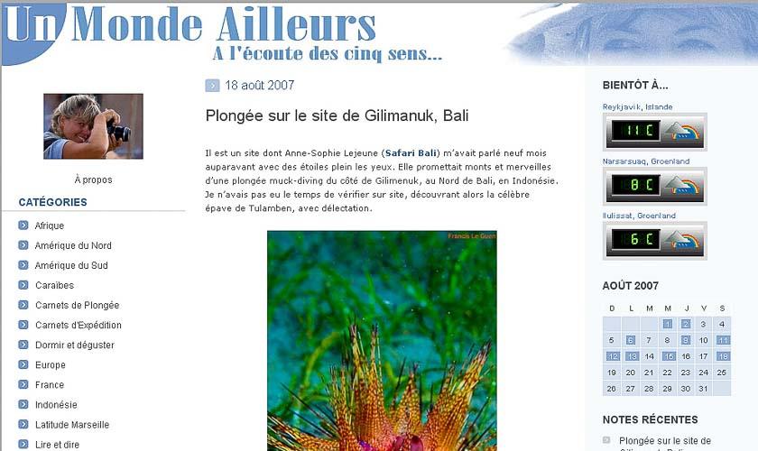 Archives, blog Un Monde Ailleurs © Marie-Ange Ostre