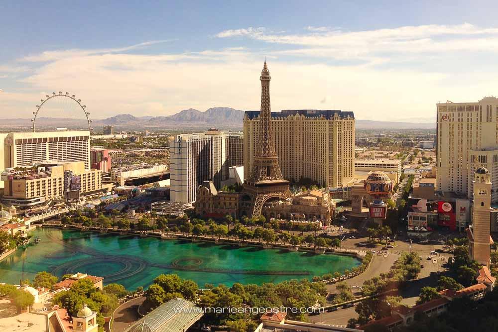 Las Vegas, view from Bellagio hotel © Marie-Ange Ostré