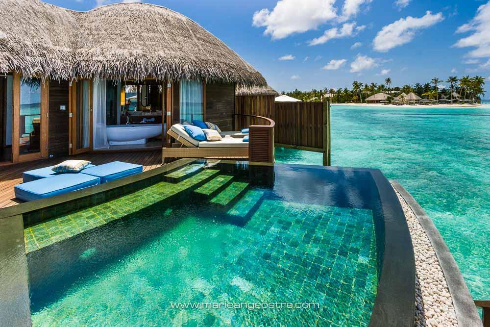 Maldives, Halaveli Resort water villa (Maldives, Halaveli Resort bungalow) © Marie-Ange Ostré
