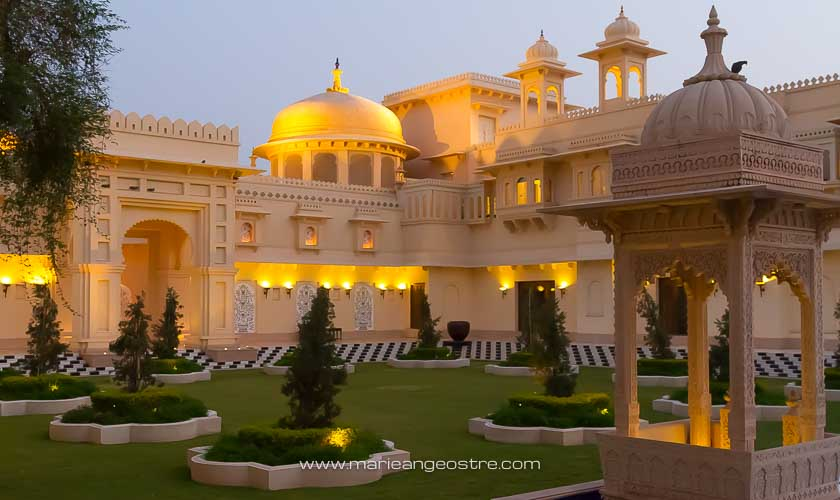 Inde, l'entrée de l'hôtel The Oberoi à Udaipur © Marie-Ange Ostré