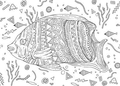 Sous l'océan, 100 coloriages anti-stress par Eduardo