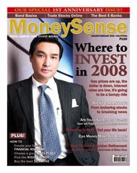 Money Sense Jan-February 2008 cover Ricky Carandang