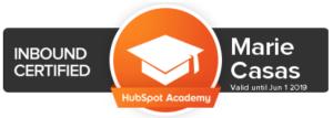 Marie Casas Certification Inbound Marketing Hubspot