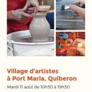 Village d'artistes à Port Maria, Quiberon – Mardi 11 août