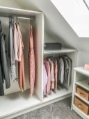 Springfields Show Homes Walk In Wardrobe designed by Marie Charnley Interiors