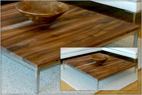 Designer Furniture : E15 Fabian Custom Made European Walnut Coffee Table
