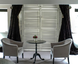 Residential Homes : Two Silver velvet Belgravia tub chairs at Marie Charnley Interiors
