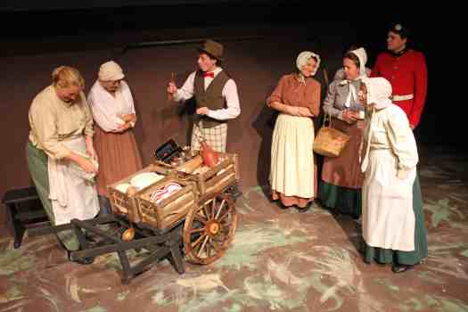 Photo of Marie Cooper Actor in the scene when The Cheapjack comes to Lark Rise, Sewell Barn Theatre in Norwich