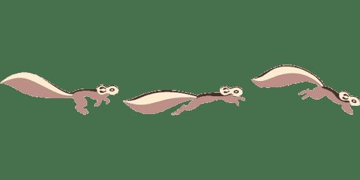 Image of running chipmunks