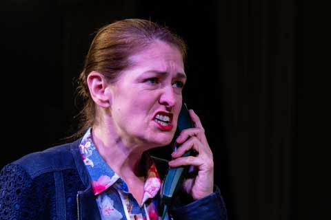 Norfolk actor Marie Cooper playing Ann Wingate in Murder in Neighbourhood Watch. Anonymous caller says Andrew was having an affair