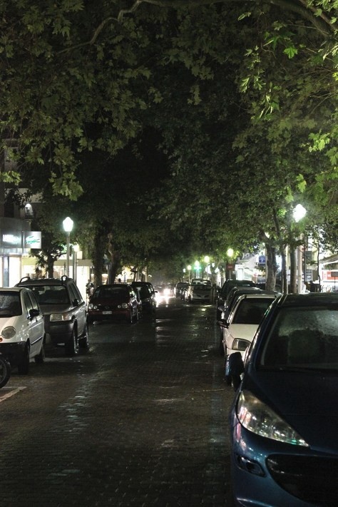 Rhodos stad kväll