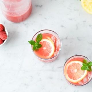Limonade au melon d'eau & framboises