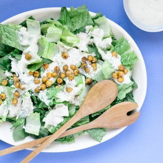 Salade César – vinaigrette maison 3 fois moins grasse & sans lactose