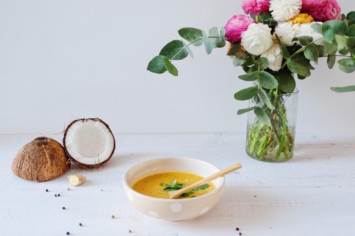 Soupe 3C : Carotte, curry et lait de coco