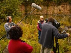 Tournage du documentaire. Photo: Rodolphe Caron