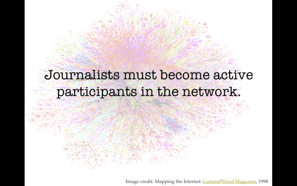 Journalists must become active participants in the network.