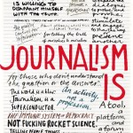 illustrated cover of Columbia Journalism Review, 2013.