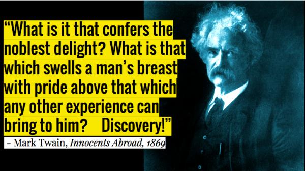 Mark Twain on Discovery