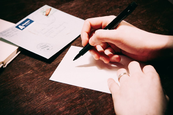 handwritten messages don't have to be fancy