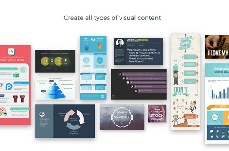 Create awesome graphics with visme