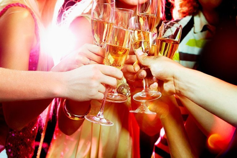celebrate with champagne in France
