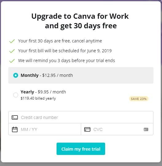 Canva Pricing
