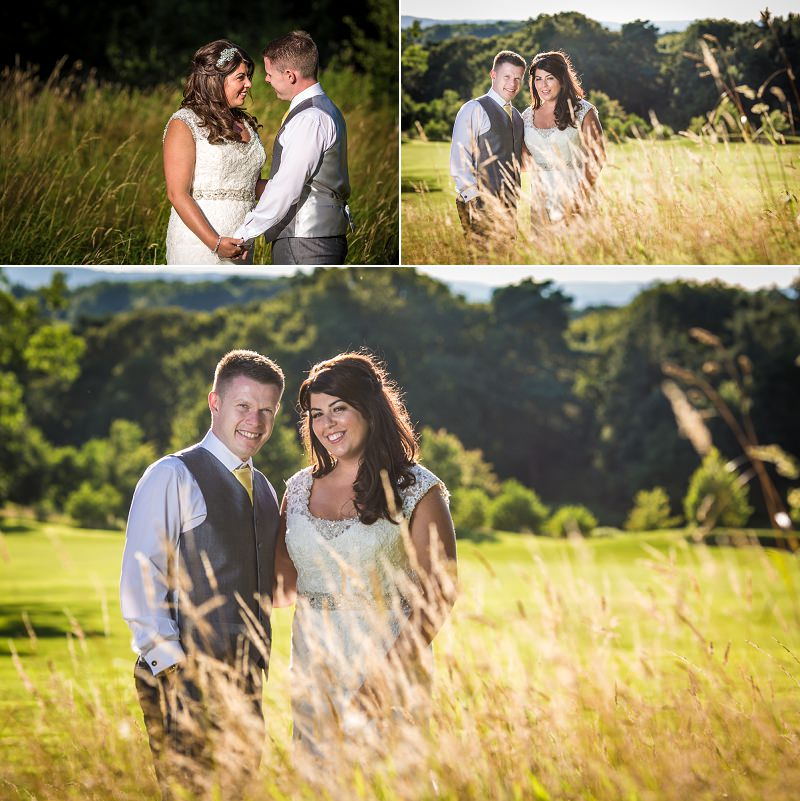 Sunset wedding photographs at Carden Park Hotel wedding venue